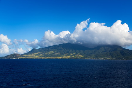Clouds Over Green Hills of St Kitts