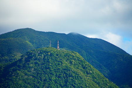 Radio Tower on Green Hills of St Kitts