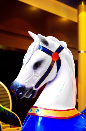 Colorful Carousel Horse 스톡 콘텐츠