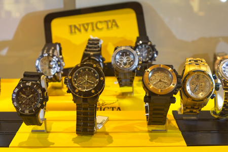 ATLANTA, GEORGIA - March 1, 2016: Invicta Watch Company is a Swiss watch company which was founded in 1837 by Raphael Picard in La Chaux-de-Fonds, Switzerland
