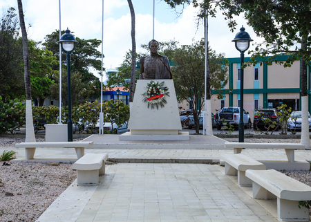 Consulate Statue in Bonaire Editorial