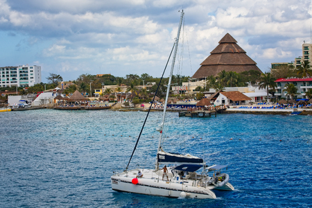 COZUMEL, MEXICO - March , 2016: Cozumel is an island in the Caribbean Sea off the eastern coast of Mexicos Yucat n Peninsula, opposite Playa del Carmen, and close to the Yucat n Channel. Editorial