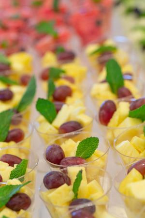 Fresh Fruit Cocktails with Pineapple Banco de Imagens