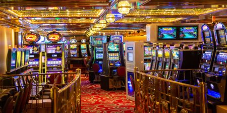MIAMI, FLORIDA - May 15, 2016: Casinos are a six-billion dollar industry - and that's just in Las Vegas. It's no wonder it is an important part of any cruise ship.