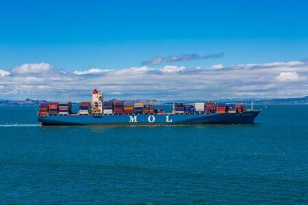 MOL Freighter in the Bay Redactioneel
