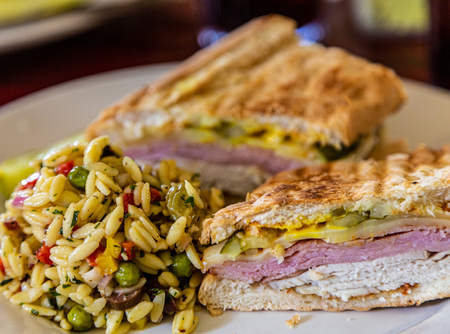Cuban Sandwich with Orzo Pasta