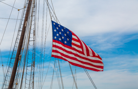 Fifteen Stars and Bars on Tall Ship