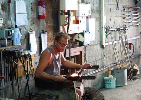 Glass Blower Working