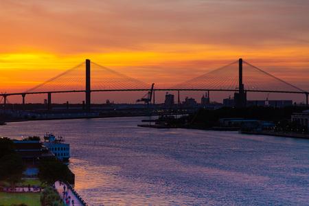 The Savannah River at Sunset Zdjęcie Seryjne