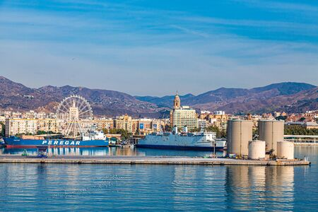 MALAGA, SPAIN - September 26, 2016: M laga is on Spain s Costa del Sol, known for its high-rise resorts, two hilltop citadels, the Alcazaba and ruined Gibralfaro, and a soaring Renaissance cathedral