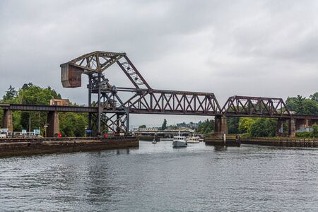 Railroad Drawbridge Banque d'images