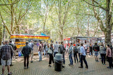 Food Trucks in Pioneer Square Editorial