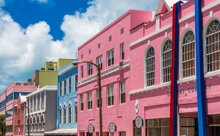 Colorful Storefronts in Bermuda