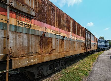 DULUTH, GEORGIA - September 11, 2019: The Southeastern Railway Museum occupies 35-acres in Duluth, Georgia, near Atlanta. Since 1970, the Museum hosts many historic trains, buses and cars