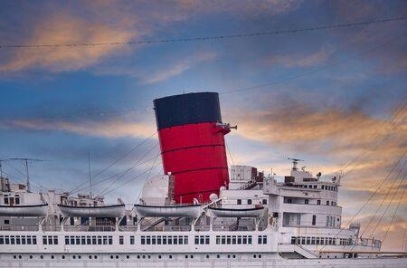 Smokestack on Classic Cruise Ship