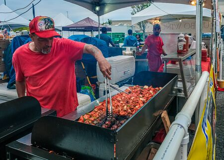 CUMMING, GEORGIA -October 5, 2019: County and local fairs and carnivals are still some of the best values in family entertainment