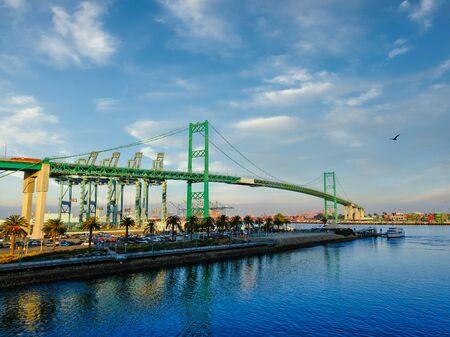 Die Vincent-Thomas-Brücke in San Pedro Standard-Bild