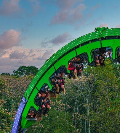 Thrill Ride at County Fair Editorial
