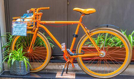 Orange Bicycle in Florence