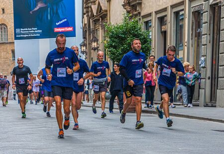 Runners in Florence Foot Race