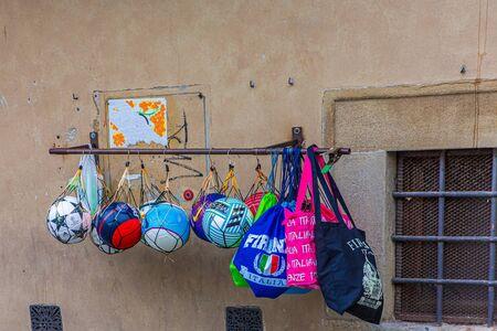 Soccer Balls in Rack