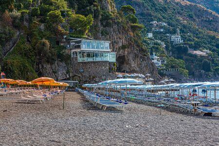 Orange and Blue Umbrellas in Positano