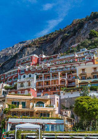 Resorts up Positano Hill