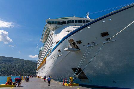 Adventure of the Seas Docked in Labadee
