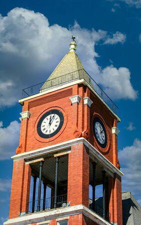 Brick Clock Tower Фото со стока
