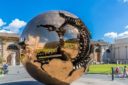Gold Shere Within Sphere at Vatican Publikacyjne