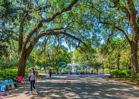 Early Morning in Forsyth Park