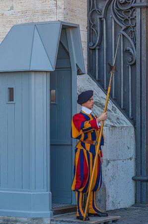 Swiss Guard on Post