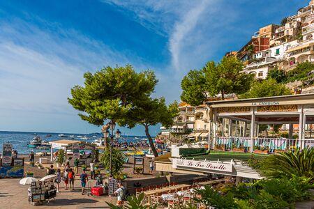 Positano Beach Scene Publikacyjne