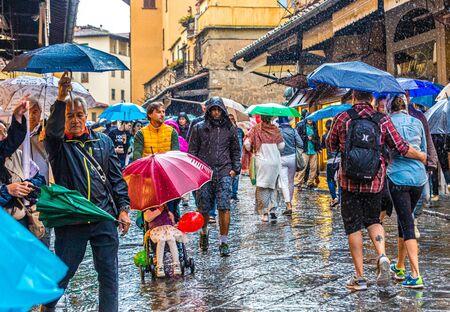 Umbrellas on Ponte Vecchio