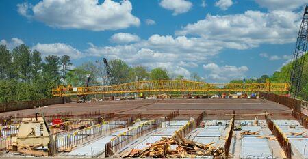 Construction of a new bridge at a major interstate Banco de Imagens