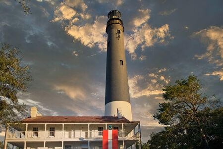Pensacola Lighthouse at Dusk