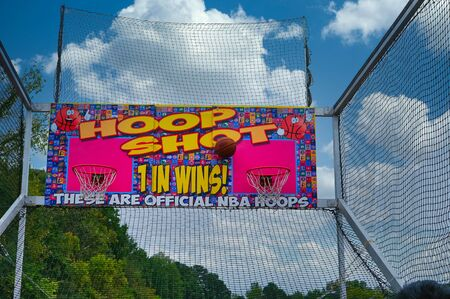 CUMMING, GEORGIA - October 6, 2019: County and local fairs and carnivals are still some of the best values in family entertainment