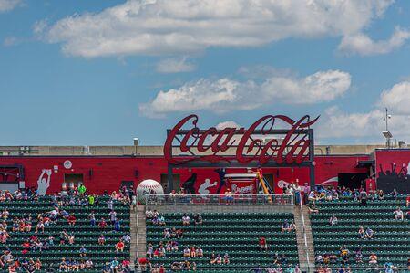 ATLANTA, GEORGIA - June 13, 2019: SunTrust Park is a baseball park located in Atlanta area. It is the home ballpark of the Atlanta Braves of Major League Baseball. Editorial