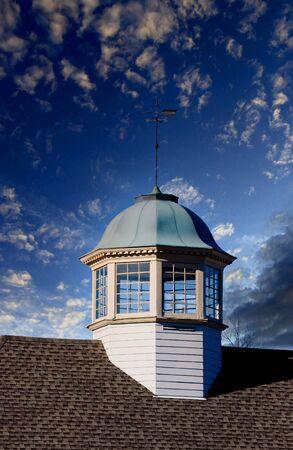 Cupola and Weather Vane at Dusk Reklamní fotografie