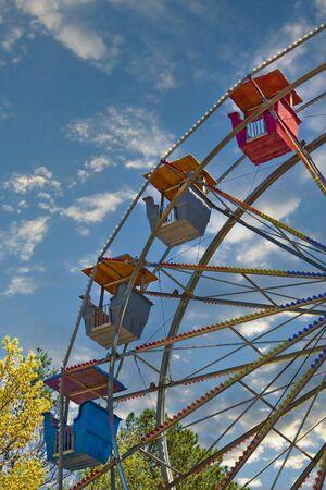 Ferris Wheel Against Dramatic Sky Stock fotó