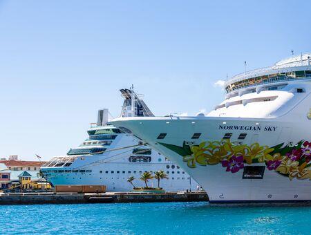 Two Cruise Ships in Nassau
