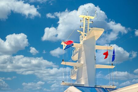Ship Tower with Colorful Flags