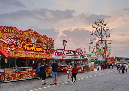Fairway and Ferris Wheel at the Carnival Editorial