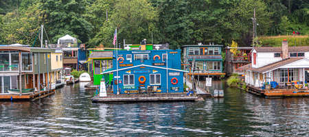 Decorated Floating House Redactioneel