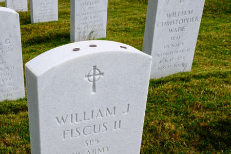 Coins on Army Grave