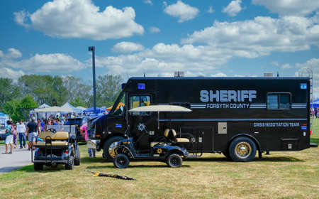 Forsyth County Sheriff Crisis Negotiation Team Truck at Local Fair
