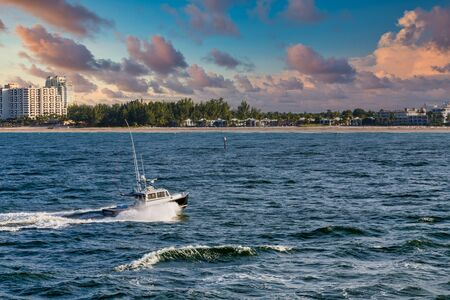 Fishing Boat Toward Florida Shore
