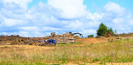 Debris Pile at Site Фото со стока