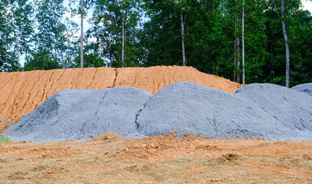 Piles of Gravel and Dirt