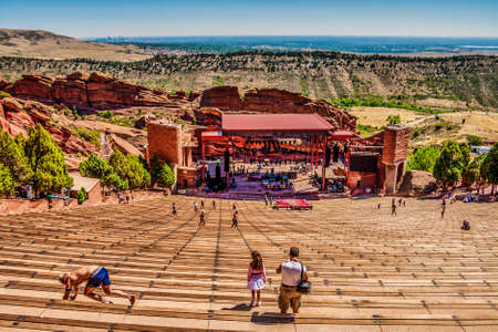 People and Stage at Red Rocks